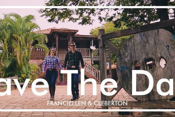 Save The Date de Franciellen & Cleberton
