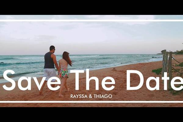Save The Date de Rayssa e Thiago