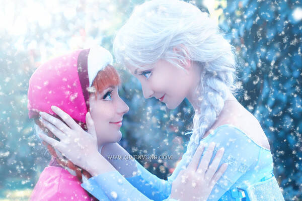 Cosplay/Personagens de Frozen - Amanda e Andressa Damiani