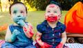 Crianças de Smash The Cake Vinicius e Victoria