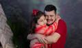 Ensaio de dia dos pais de Manuela e papai Leandro