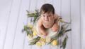 Augosto no seu  de Ensaio Milk Bath Baby