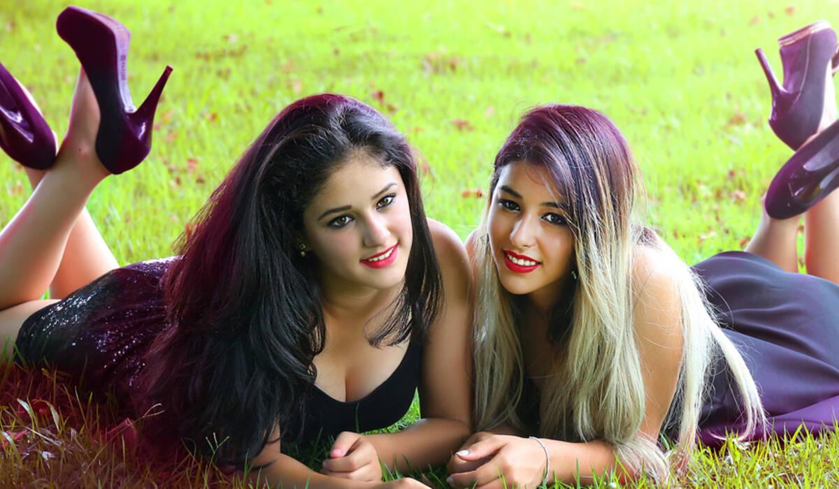 Ensaio de Gêmeas - Poliana & Paula