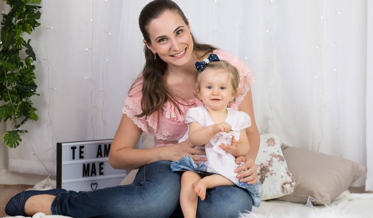 Ana Júlia e família de Dia das mães