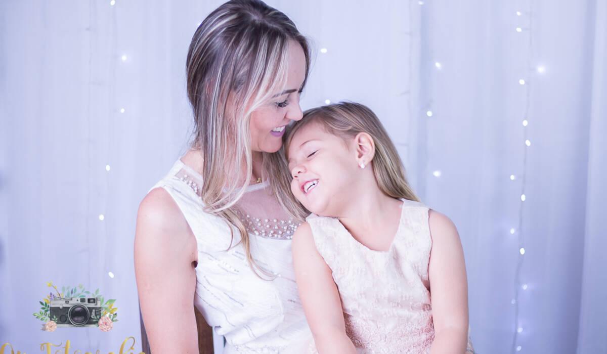 Sessão de dia das mães de Mamãe Rafaela