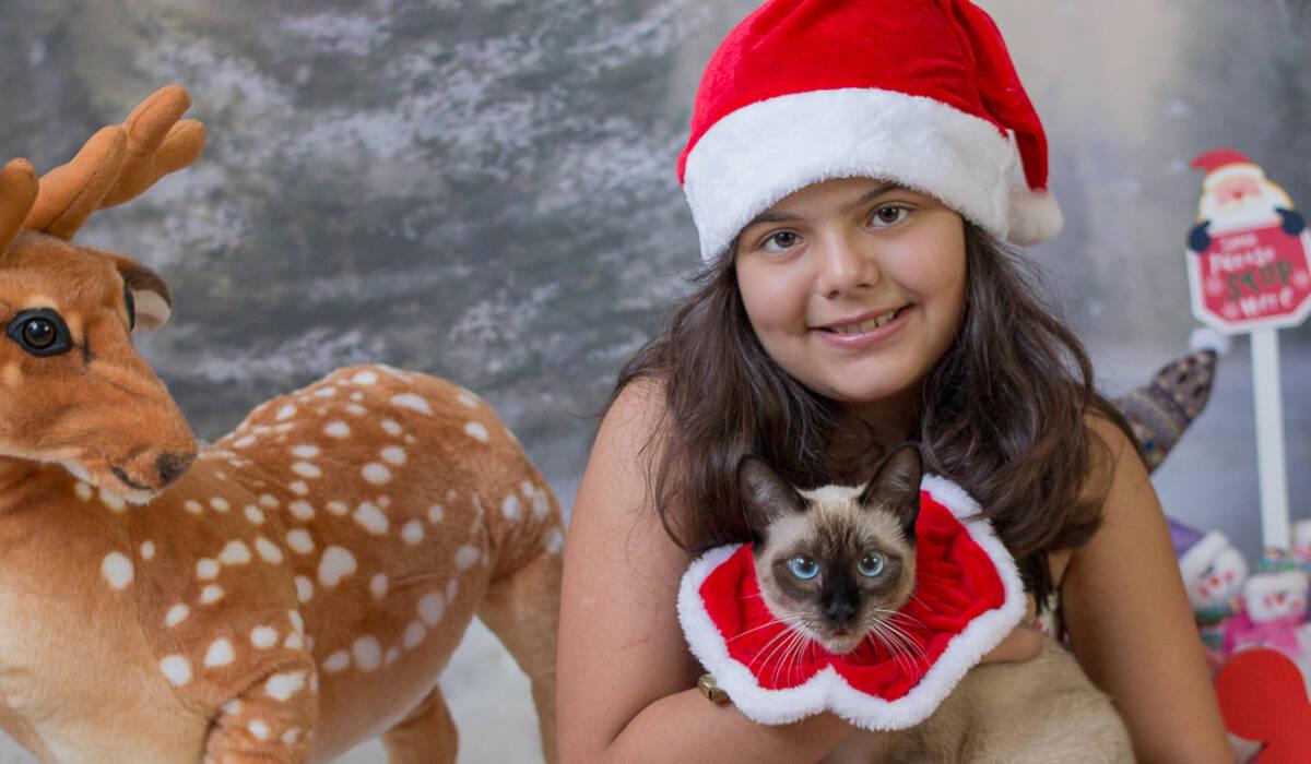 Helena e Marie de Mini sessão de natal