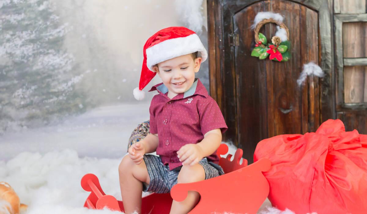 Mini sessão de natal de Enzo