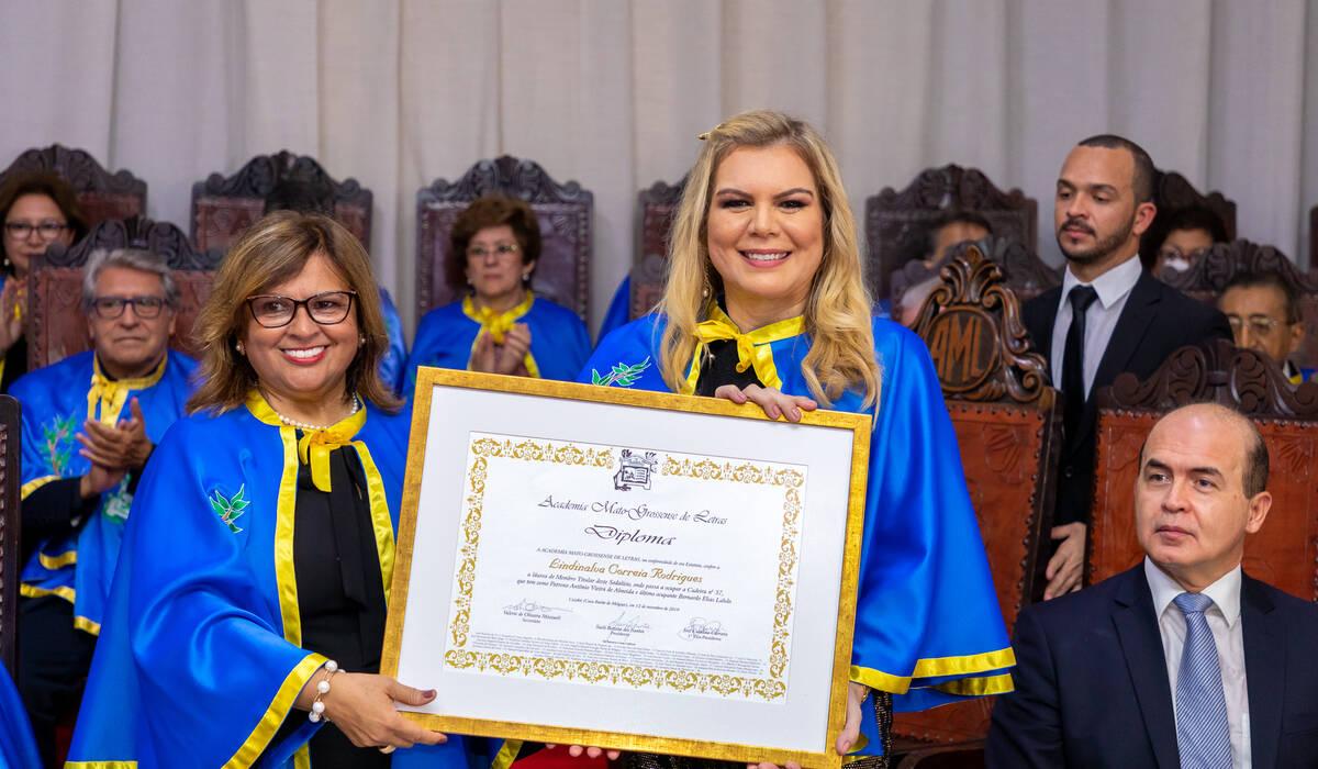 Posse na Academia Mato-Grossense de Letras de Lindinalva Rodrigues