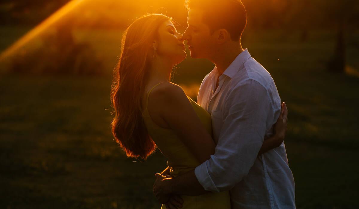 Ensaio romântico de Juliana e Rodrigo