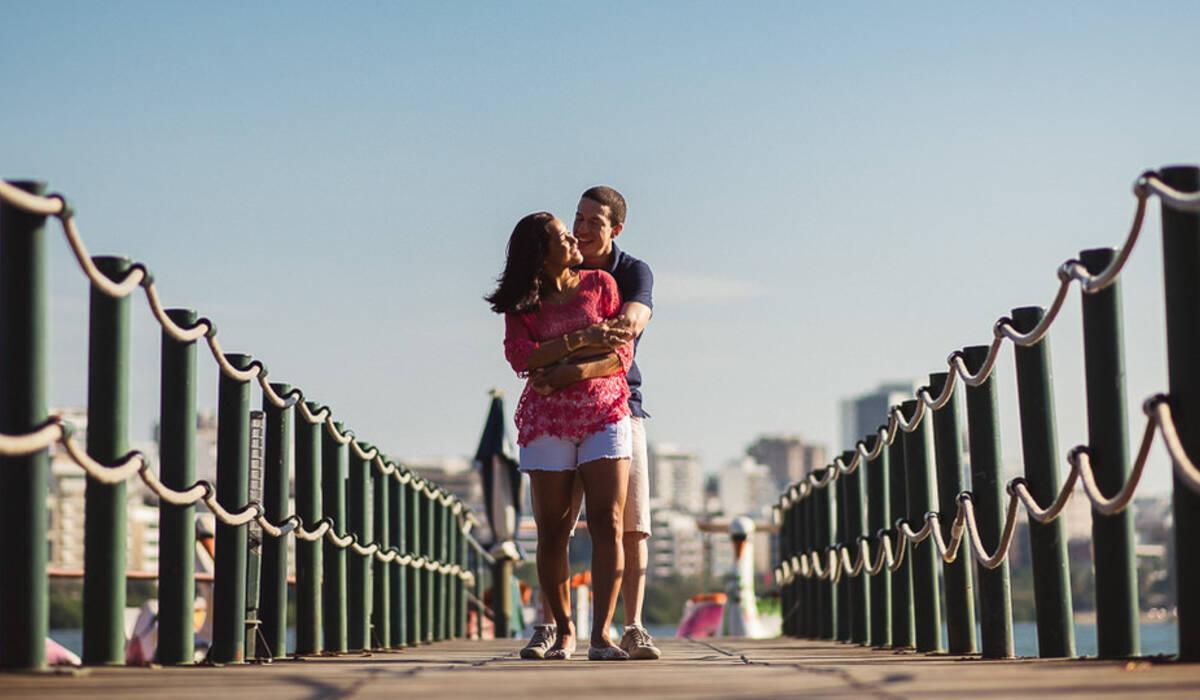 ensaios casal de Priscila e Vitor