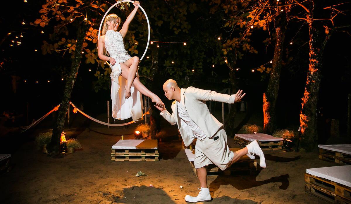 creative wedding de Bailarina e o Palhaço