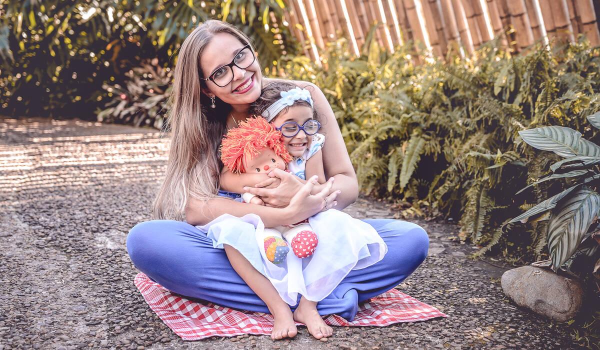 Ensaio Mãe e Filha de Andressa e Alice