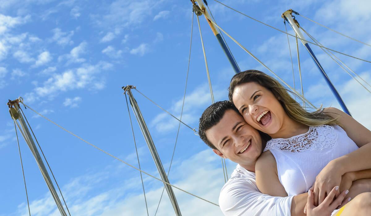 O amor está no ar... de Bárbara e Luciano