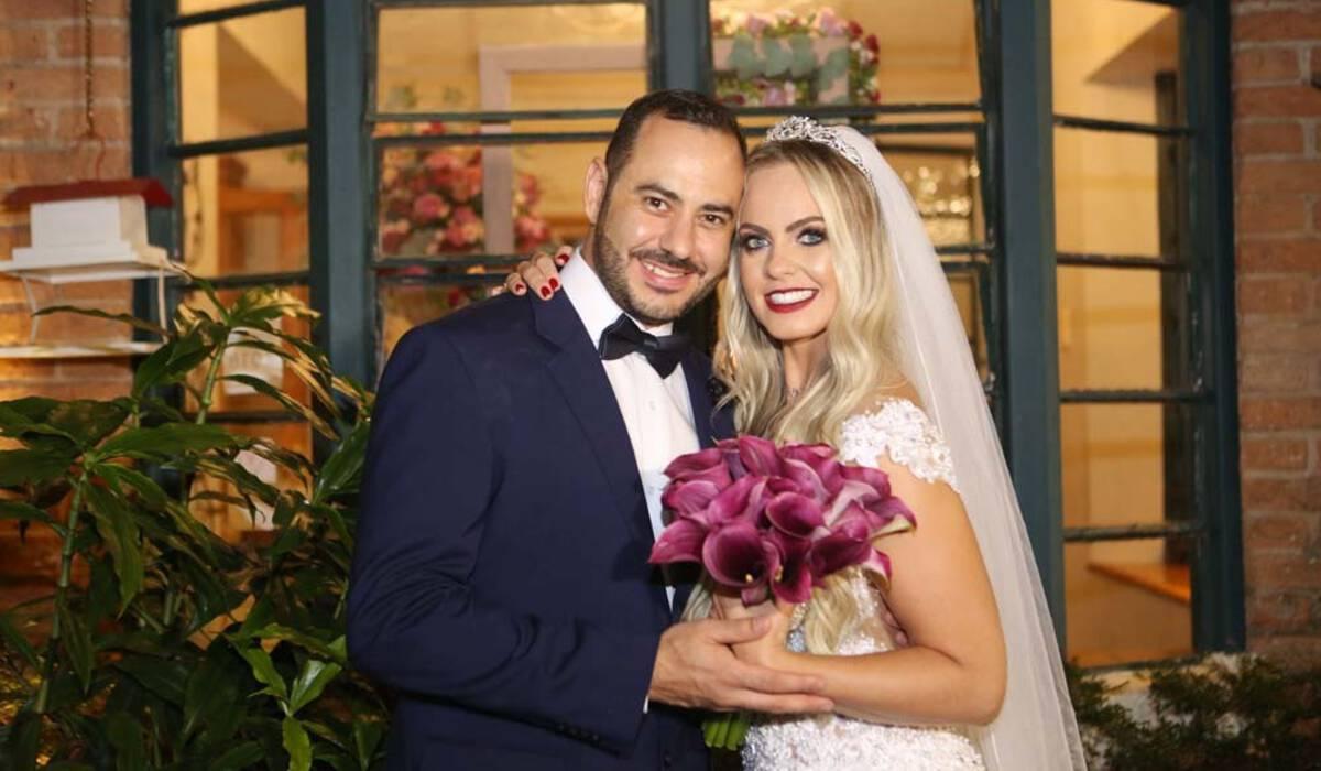 Tatiana e Fernando de Casamento no Buffet