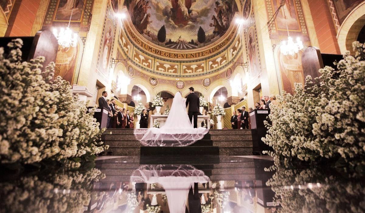 Camila e Wesley de Casamento na Igreja