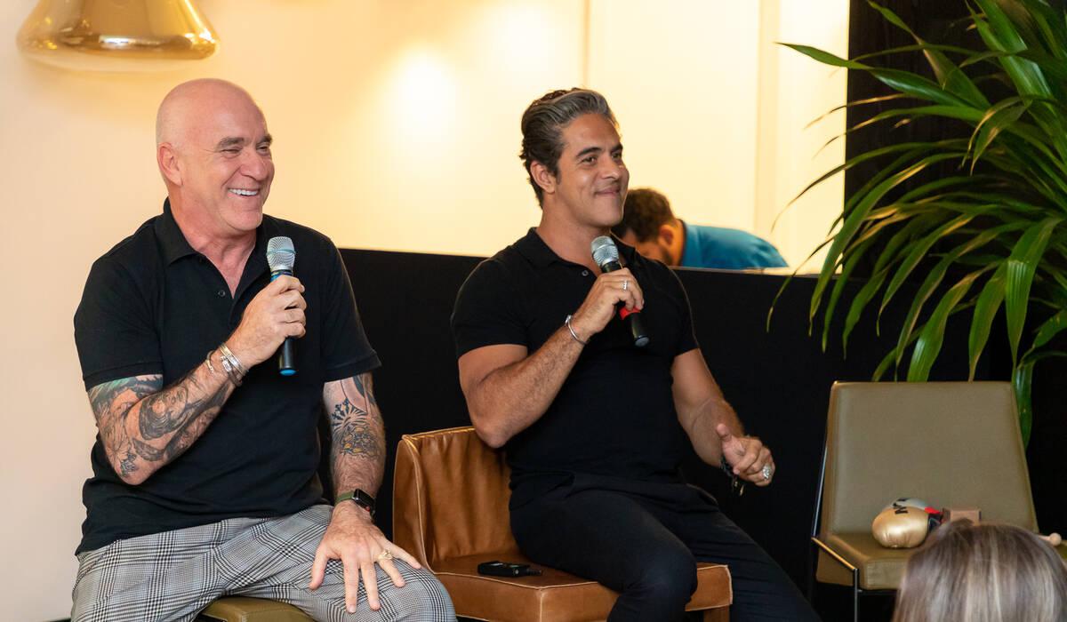 Villaregio e Palimanan de Round Talks com Elkis e Sobrino