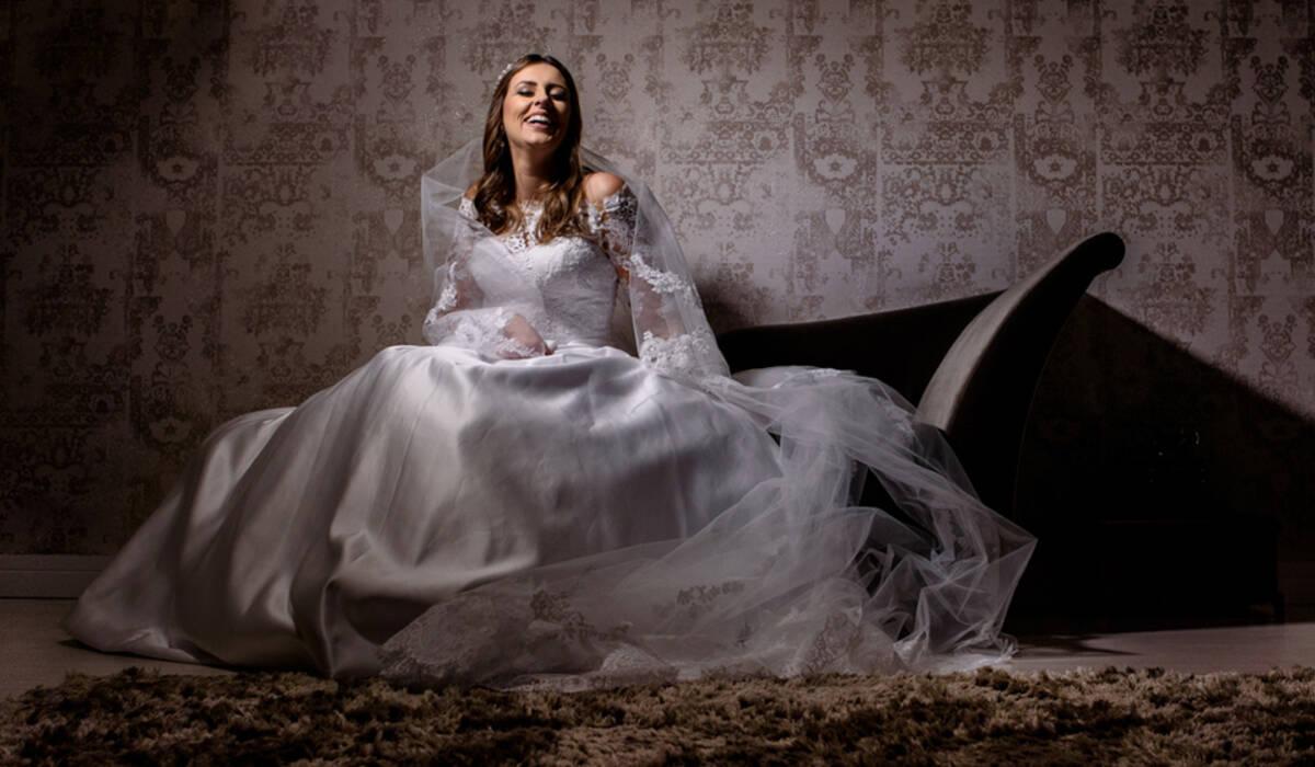 Prova de vestido de Lívia