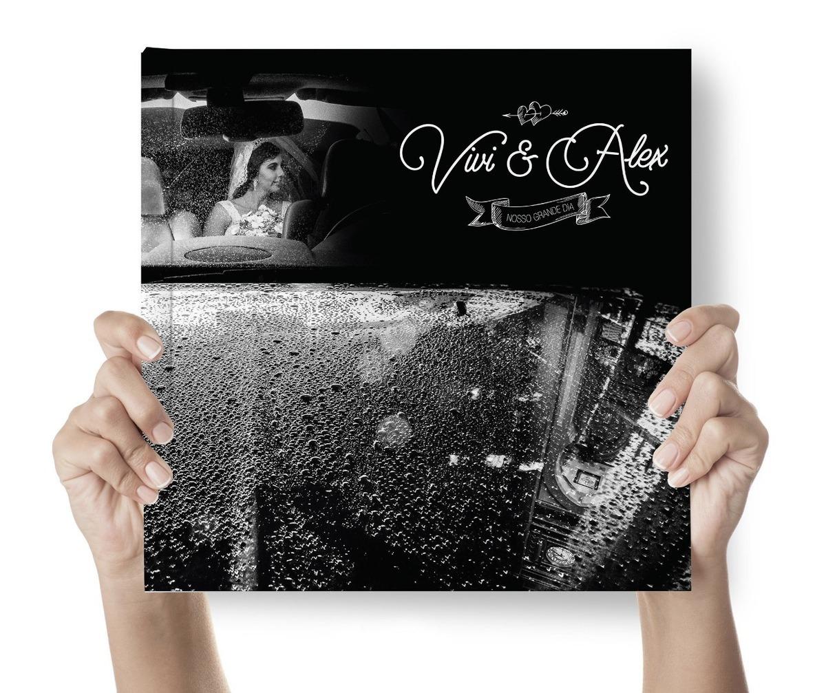 capa de álbum de casamento
