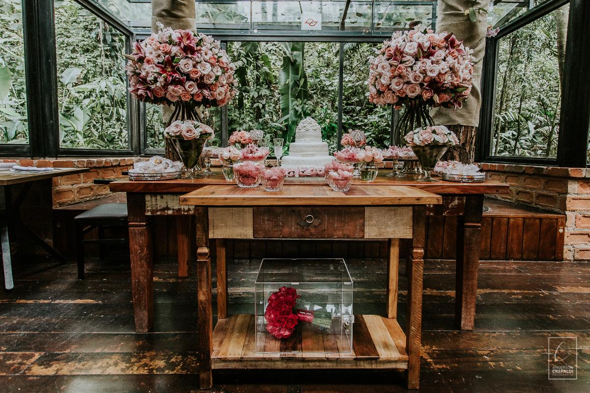 Mesa do Bolo - Mini-Wedding Restaurante