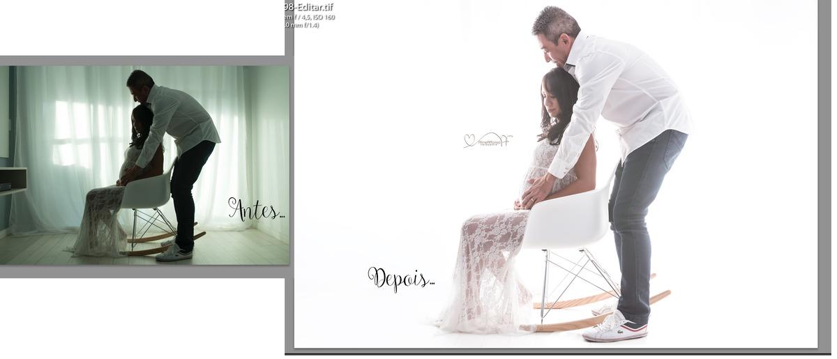 Imagem capa - A edição de imagem - Ensaio Gestante por Aline Affonso