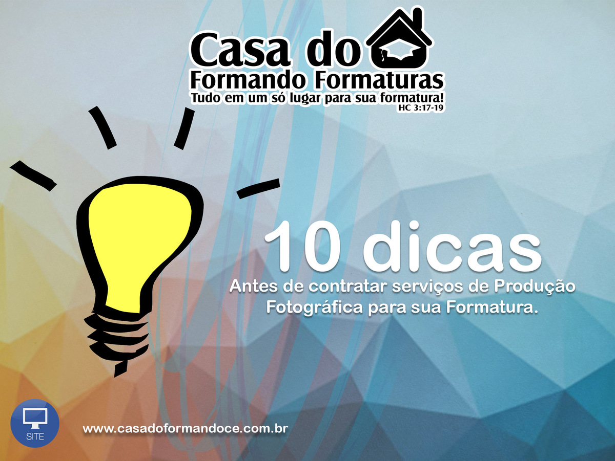 Imagem capa - 10 dicas antes de contratar suas fotos de formatura! por RAFAELA CRISTIANE GOMES FERREIRA ME