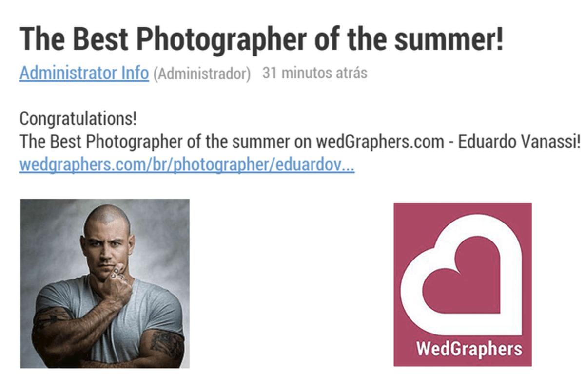 Imagem capa - The Best Photographer of the summer! (WedGraphers) por Eduardo Vanassi