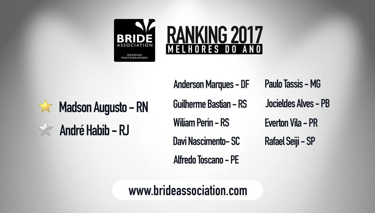 Imagem capa - Ranking 2017 da Bride Association por Madson Augusto
