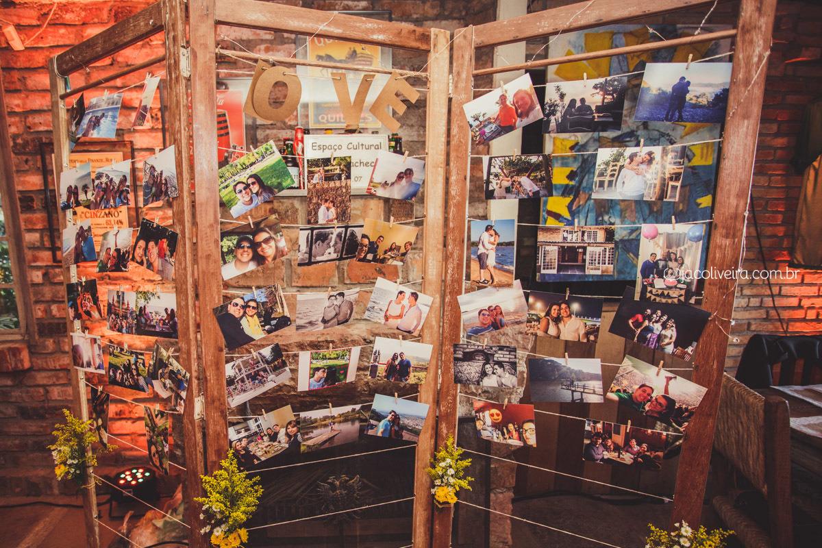 mural de fotos dos noivos no la piedra porto alegre foto jac oliveira