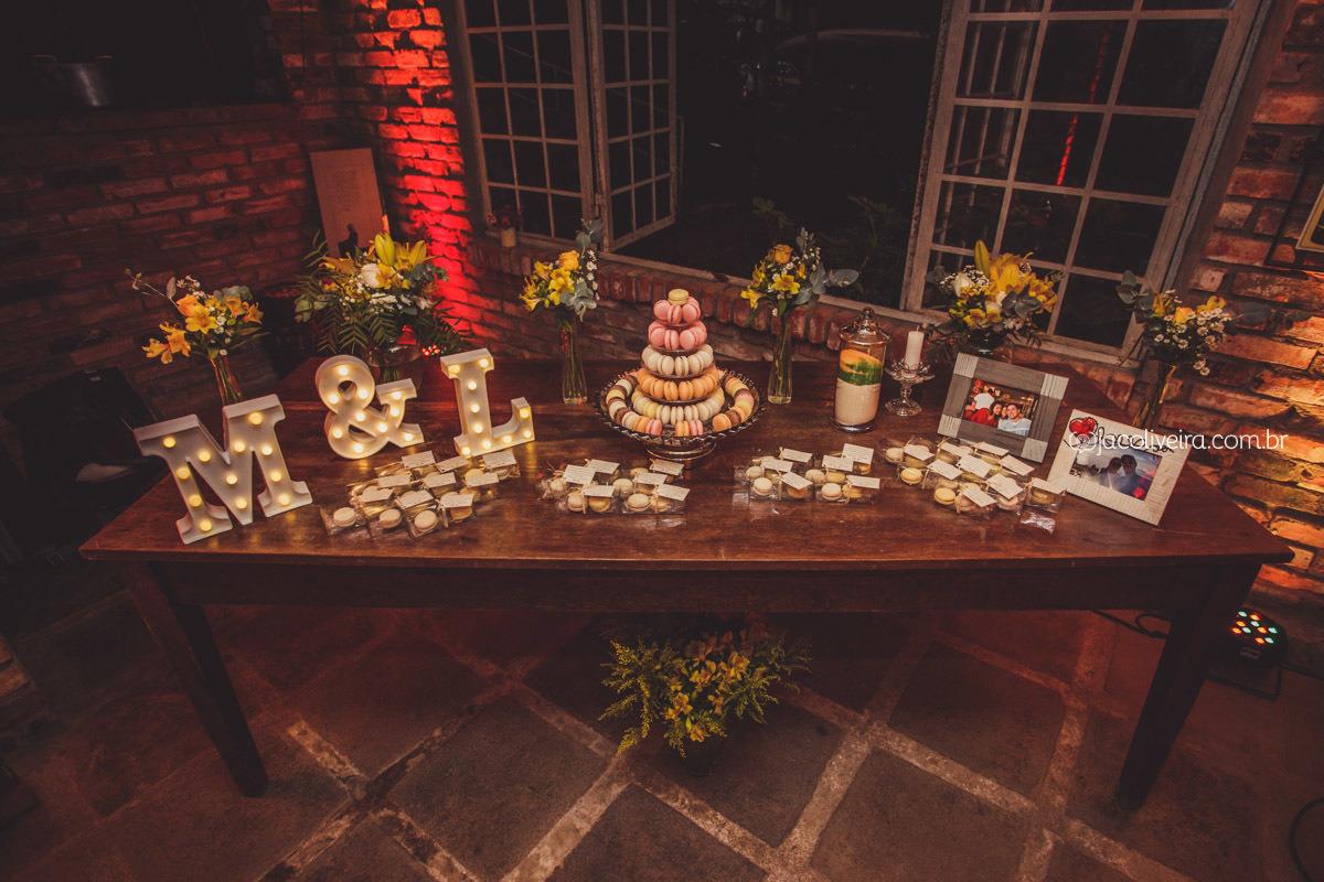 mesa casamento la piedra macarons