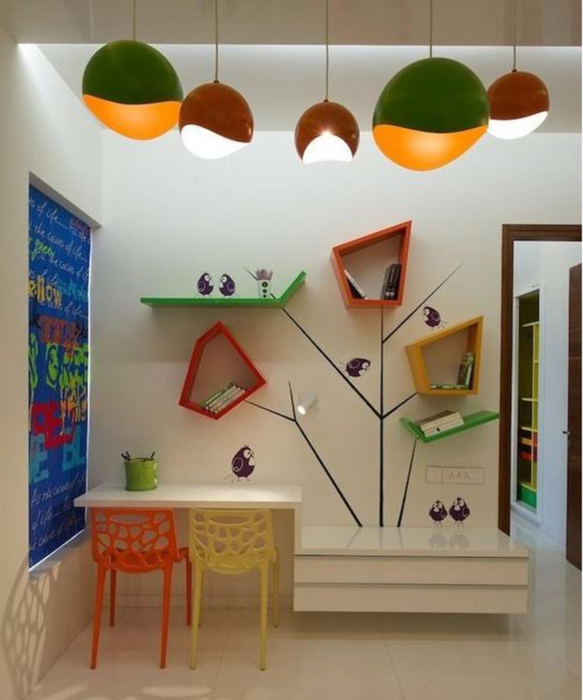 decoração ludica no quarto dos filhos