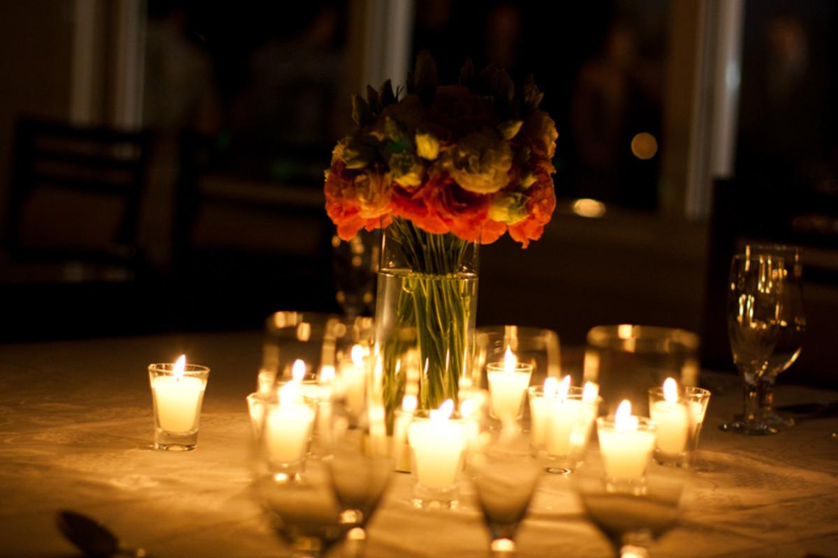 decoração mini casamento com velas