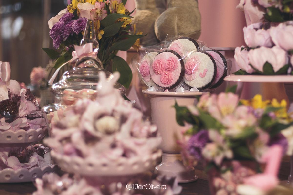 biscoito decorado ursas princesas rosas 1 aninho ki festa