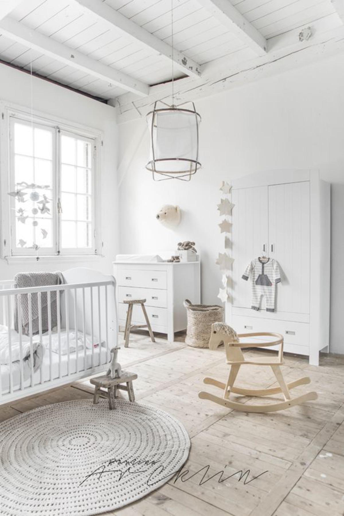 decoração clean quarto de bebê