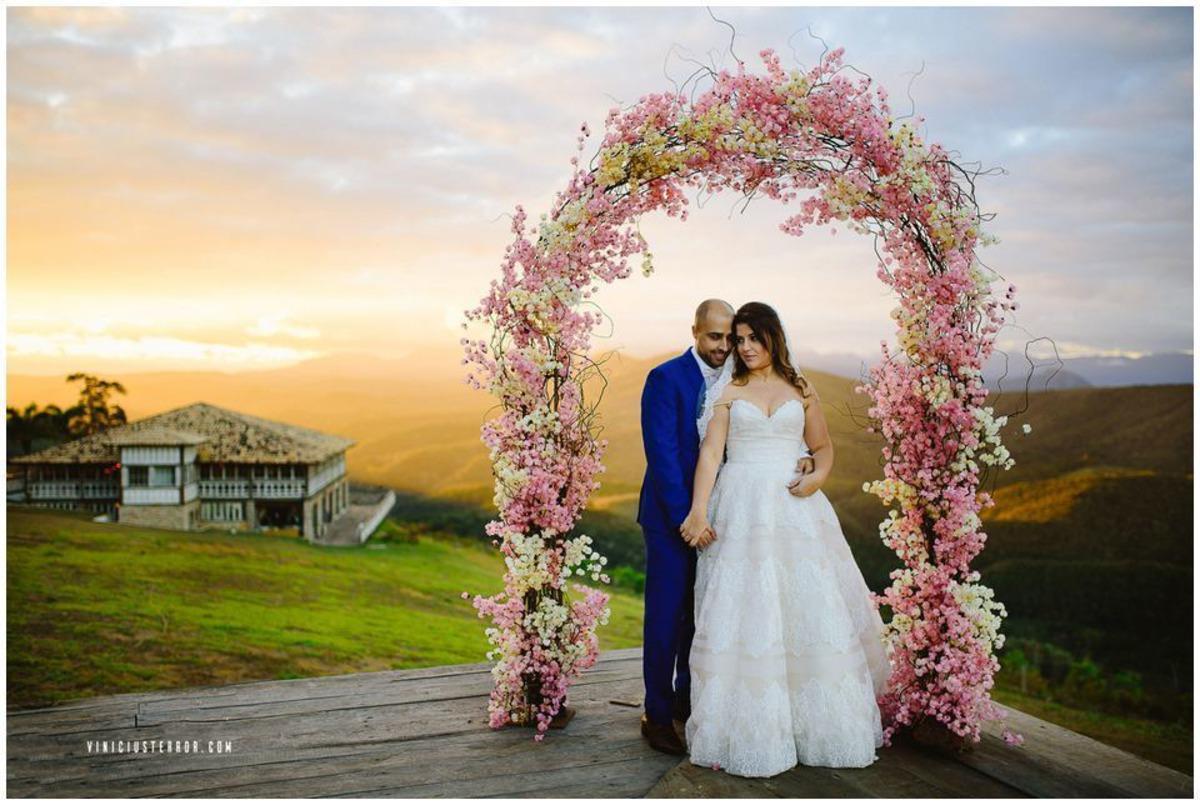 vila relicario casamento ao ar livre com por do sol
