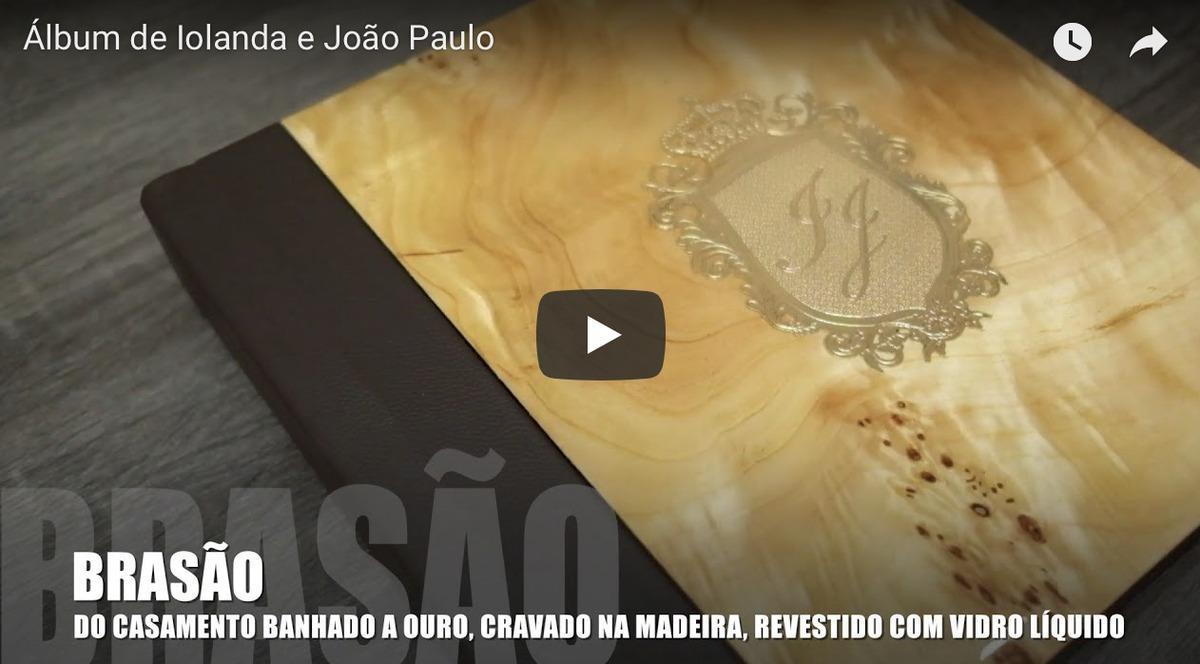 Imagem capa - Álbum de Iolanda + João Paulo: Madeira Exótica com Brasão de Ouro + RÉPLICA por Junior Barreto