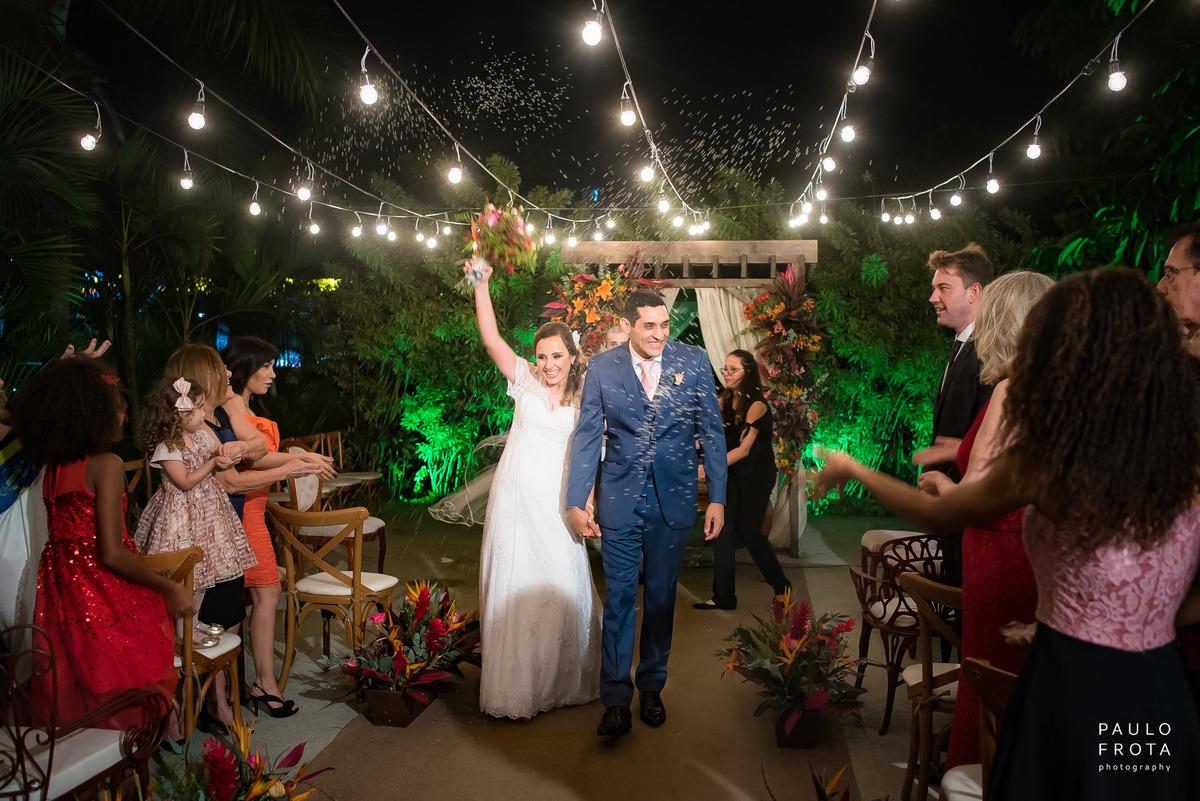 cerimonia no solar imperial, saida dos noivos