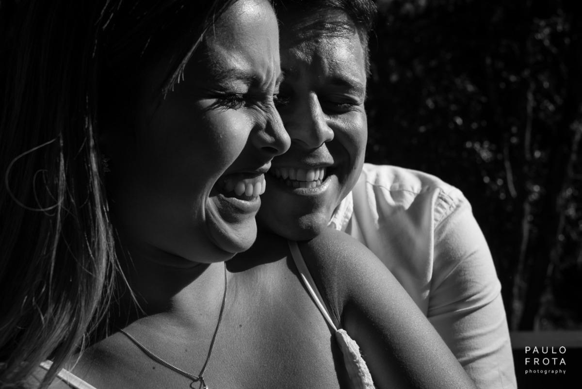 casamento em Friburgo, foto preto e branco, casal sorrindo