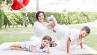 Ensaio de Família de Dia das mães com uma grande família
