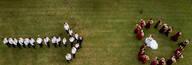 Fotos criativas usando de Drone