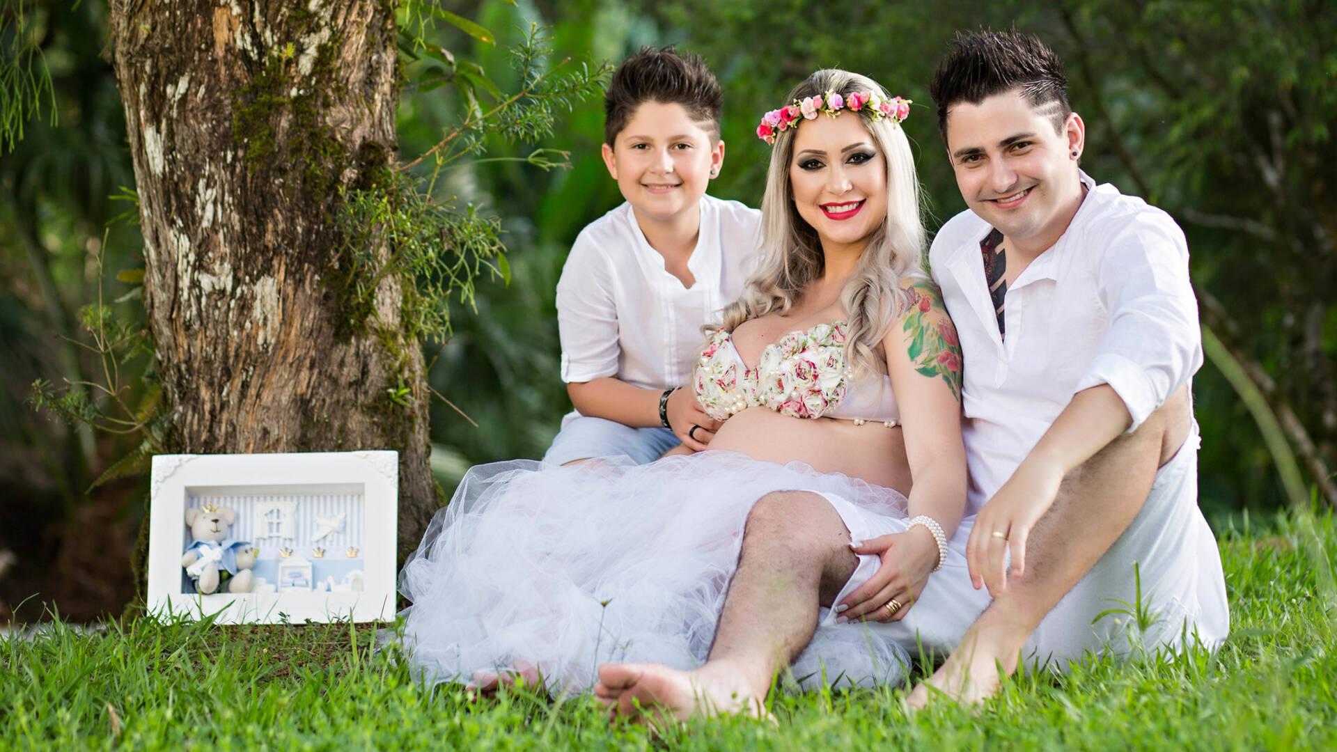 Ensaio de Gestante de Lilian e Família