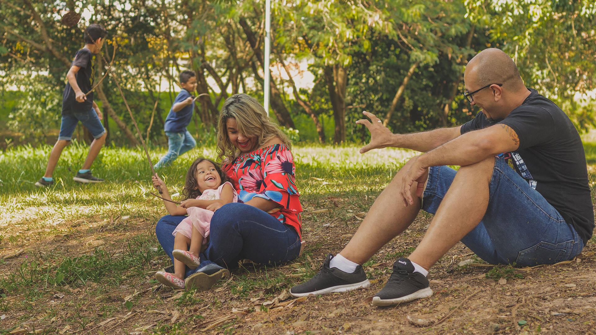 Ensaio Família de Sérgio e Mônica