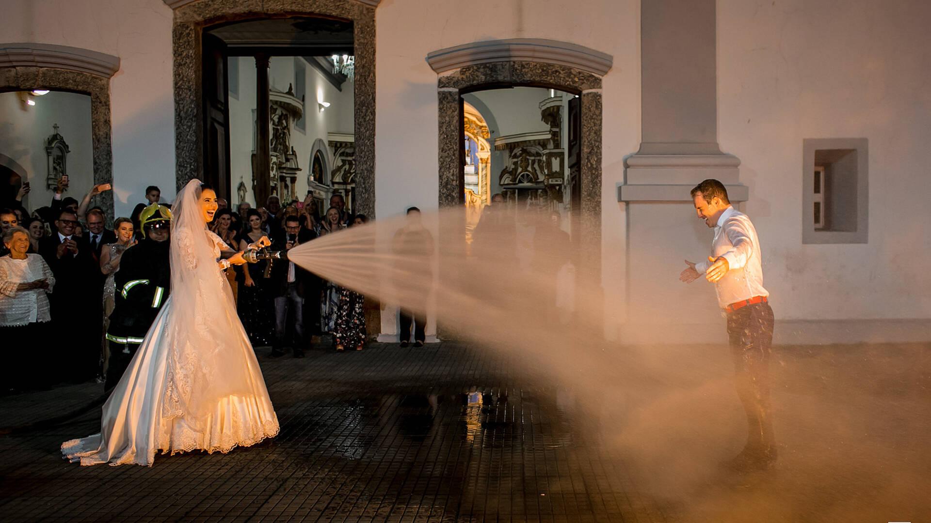 Casamento Bombeiro Militar de Lilian e Junior