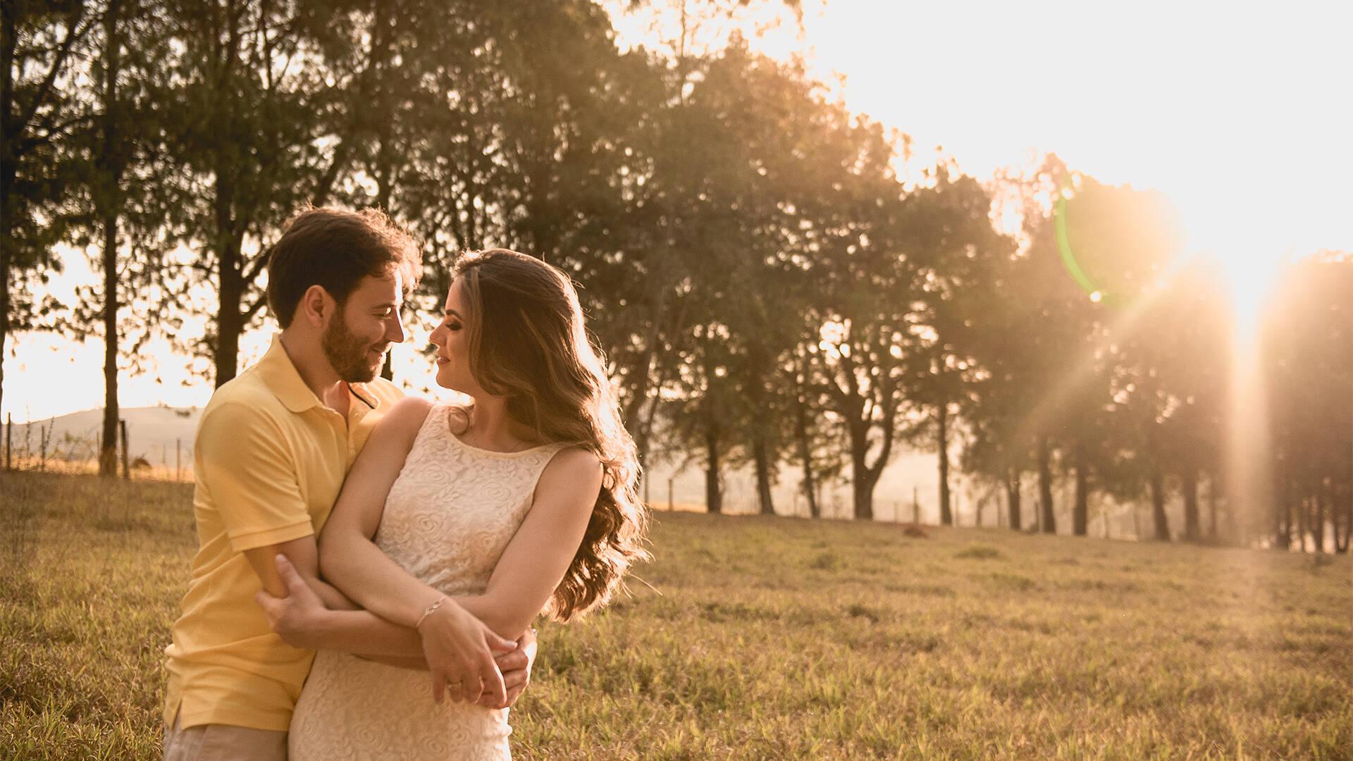 Ensaio de namoro de Sarah e Diego