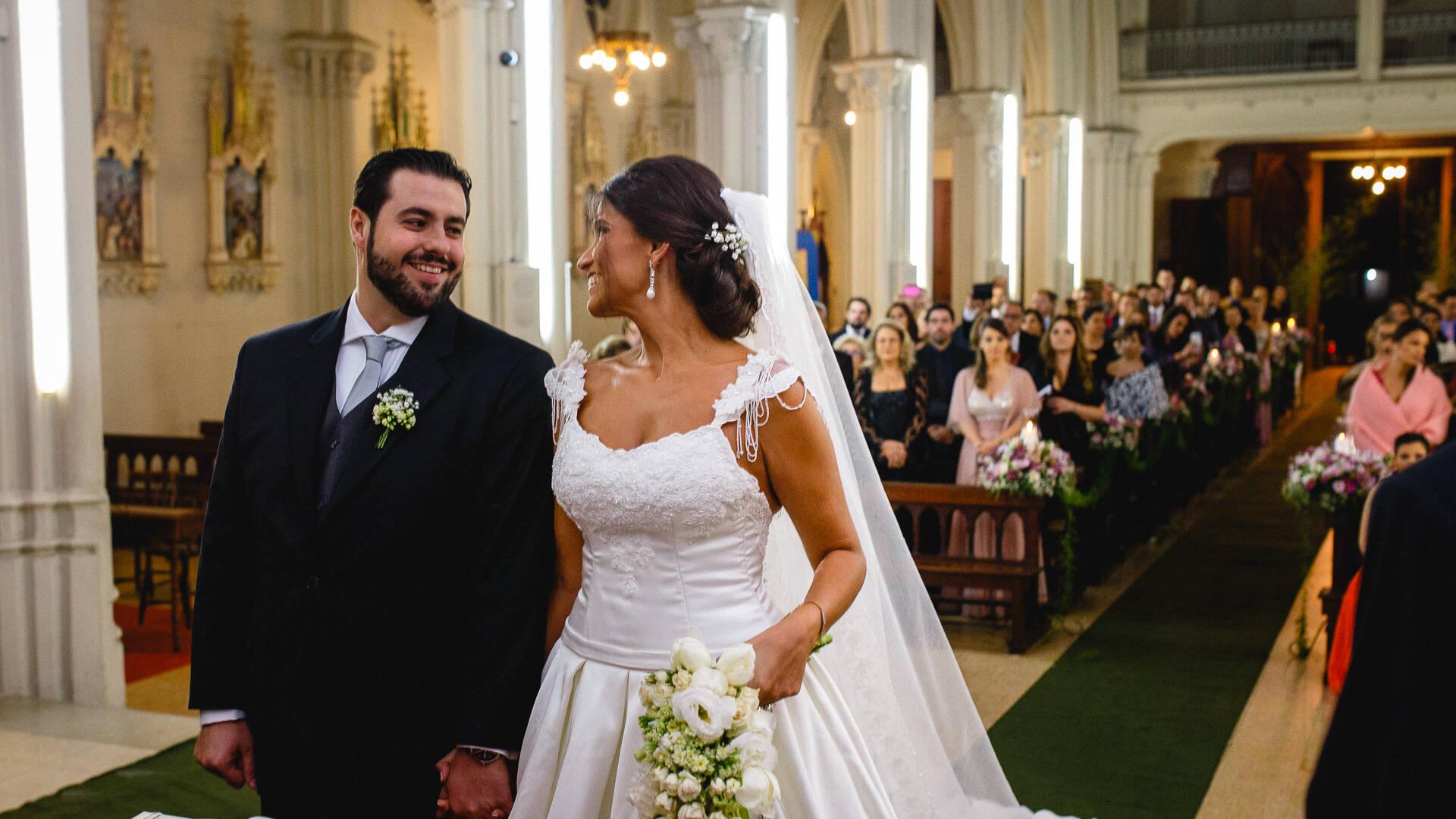 Aislã e Marcos de Casamento