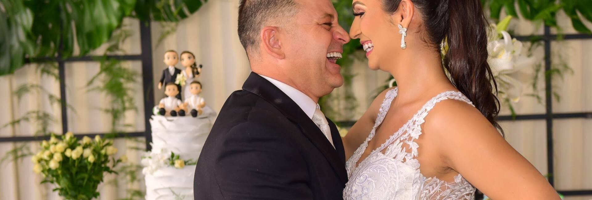Jessica e Sidnei de casamento