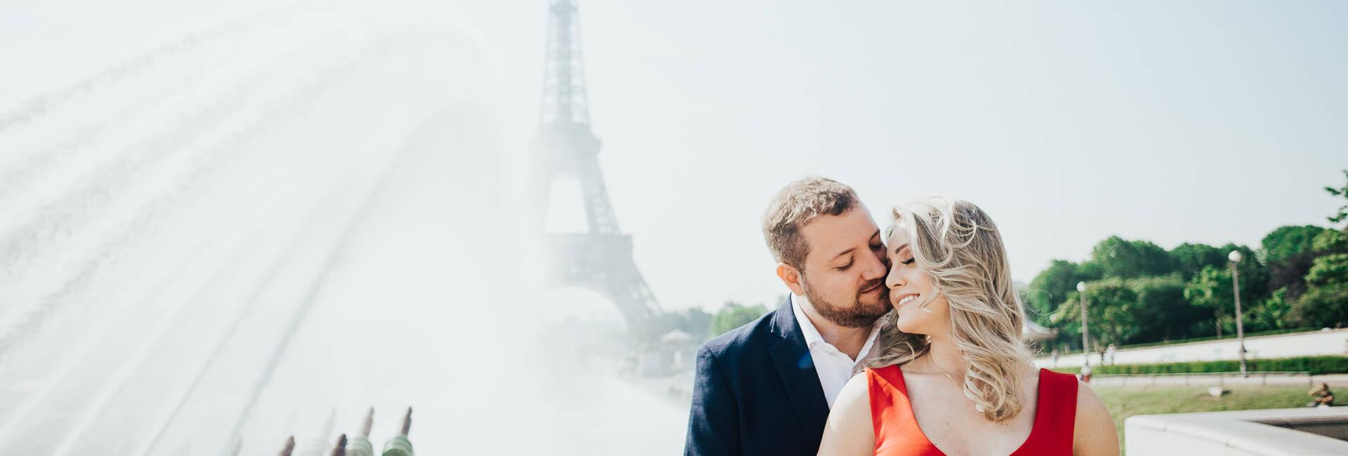 Ensaio romântico em Paris de Vanessa + Leandro
