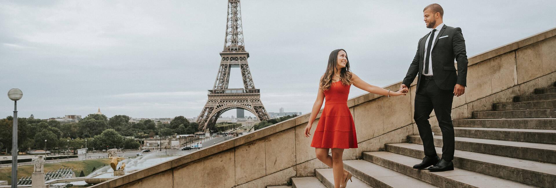 Ensaio romântico em Paris de Raphaela + Pedro