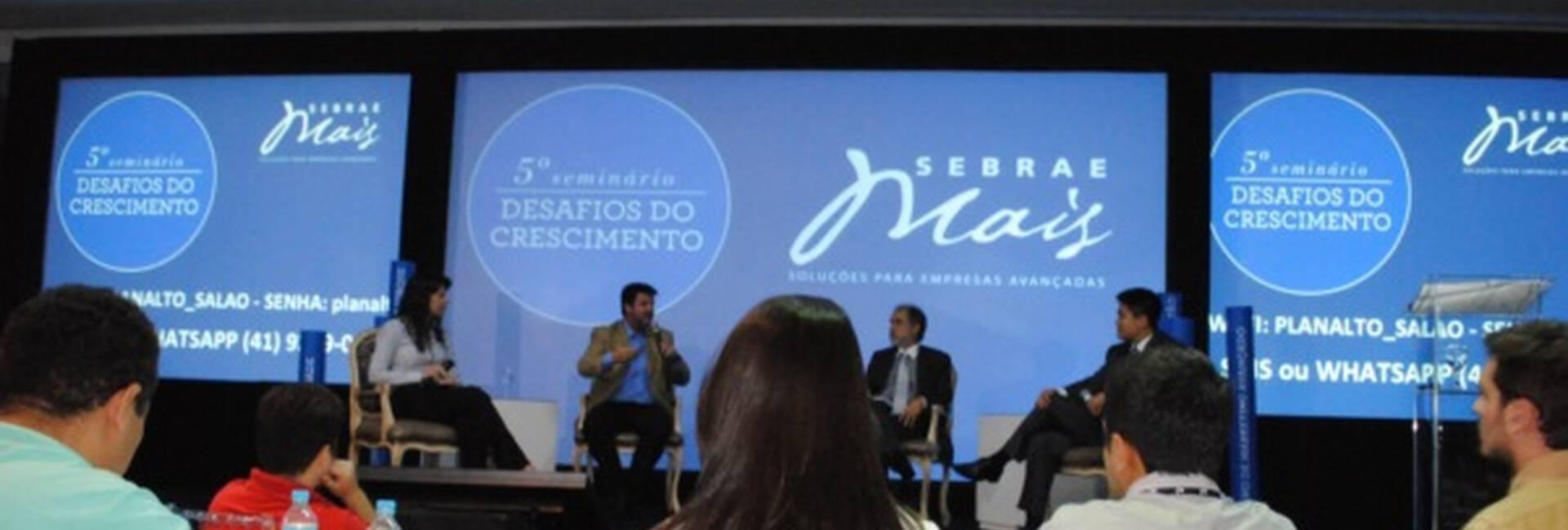 Evento Corporativo de 5o SEMINÁRIO DESAFIOS DO CRESCIMENTO - SEBRAE