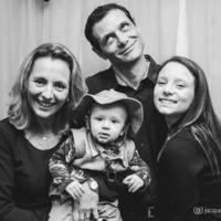 Anajara Lacava e família