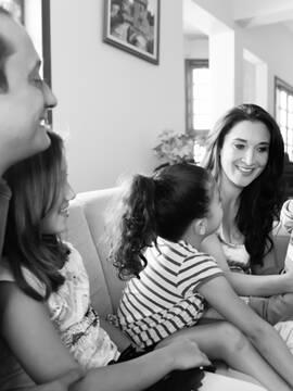 Famílias de Lilian, Rafael, Sofia, Nana e Davi em Nepomuceno - MG